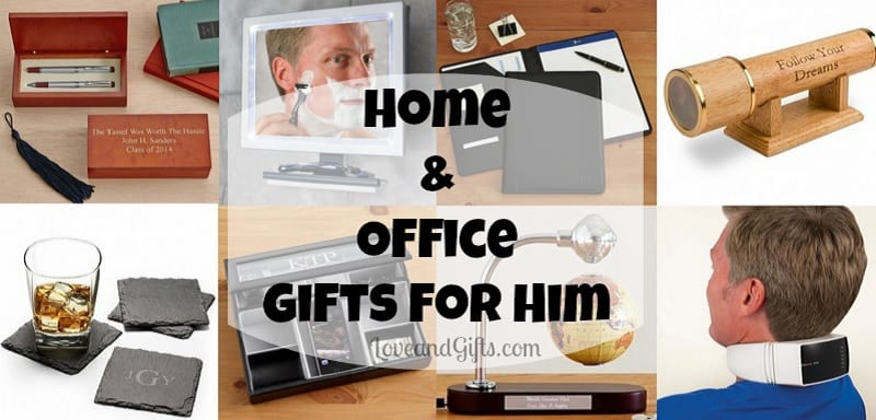 Home and Office Gifts for Him via Love and Gifts