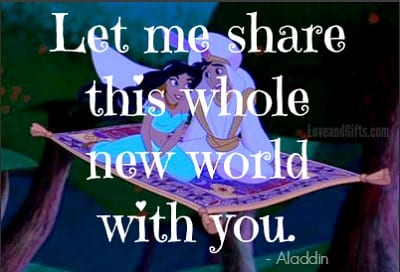 Top 20 Love Quotes from Disney Movies - Aladdin
