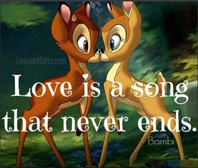 Top 20 Love Quotes from Disney Movies - Bambi