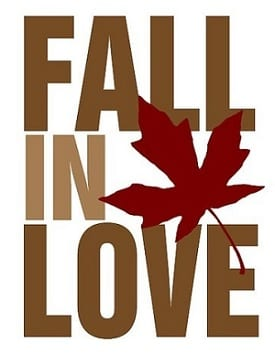 quotes about falling in love in honor of the fall season