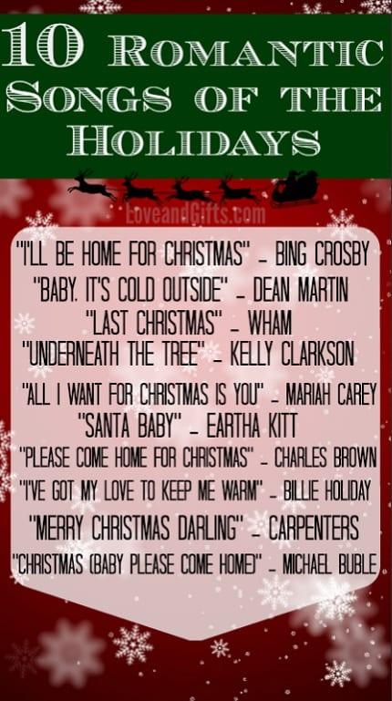 Top 10 Romantic Holiday Songs via LoveandGifts